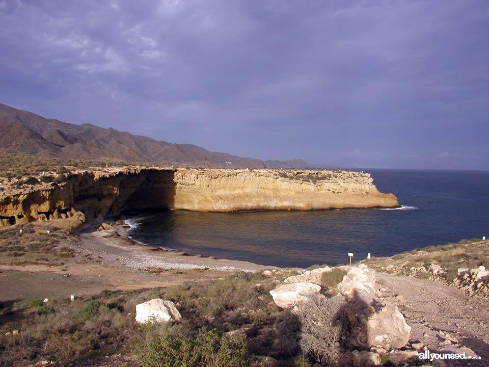 Cala Blanca en Lorca. Playas de Murcia