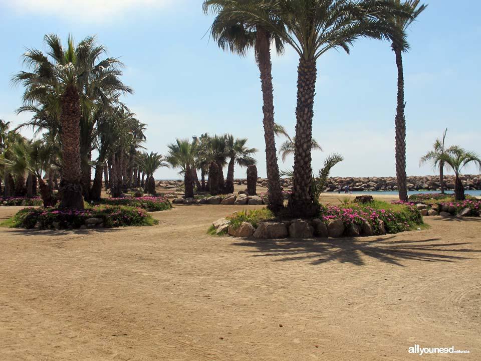 Playa de la Colonia en Aguilas