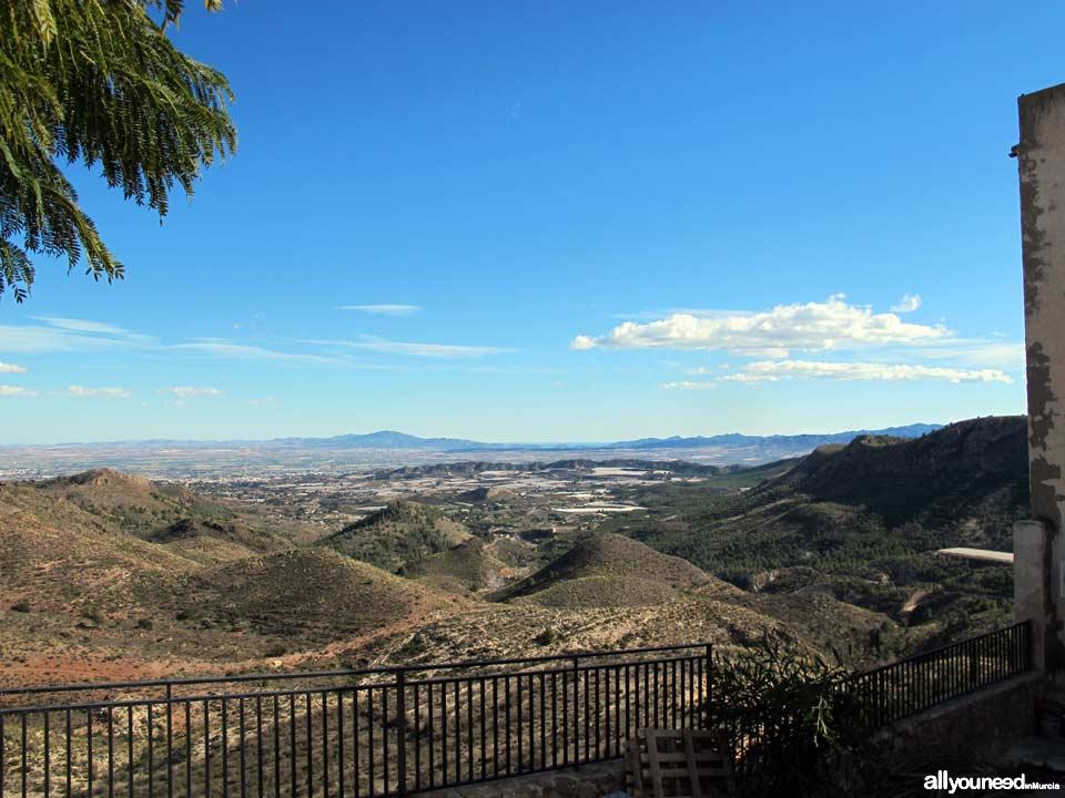 Aledo. Vistas desde la plaza del Castillo