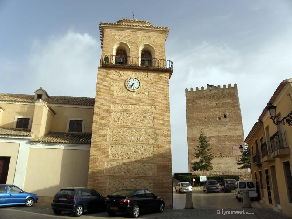 Aledo. Iglesia Santa Real y Torre del Homenaje