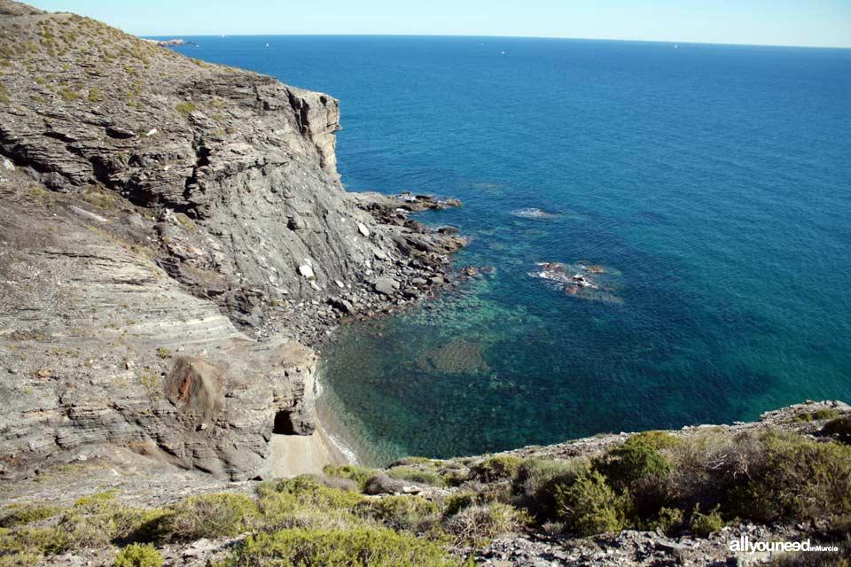 Cala Cocón. Cala solitaria. Playas de Calblanque. Murcia.