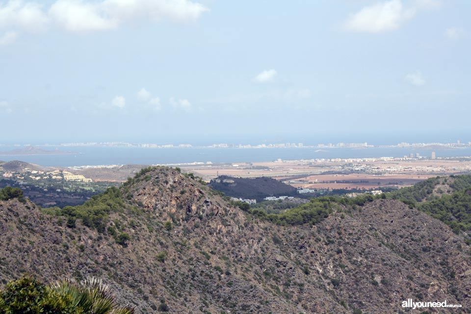 Monte de las Cenizas. Views of La Manga del Mar Menor
