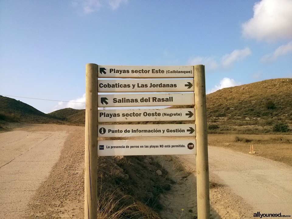 Calblanque Information Office. Murcia. Spain. Road Sign