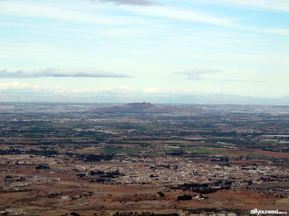 Panorámicas desde el Monte Roldán en Cartagena.. El Cabezo Gordo