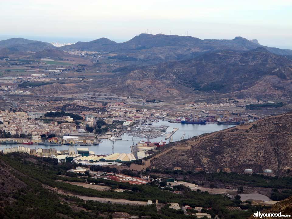 Panorámicas desde el Monte Roldán en Cartagena. La Algameca grande