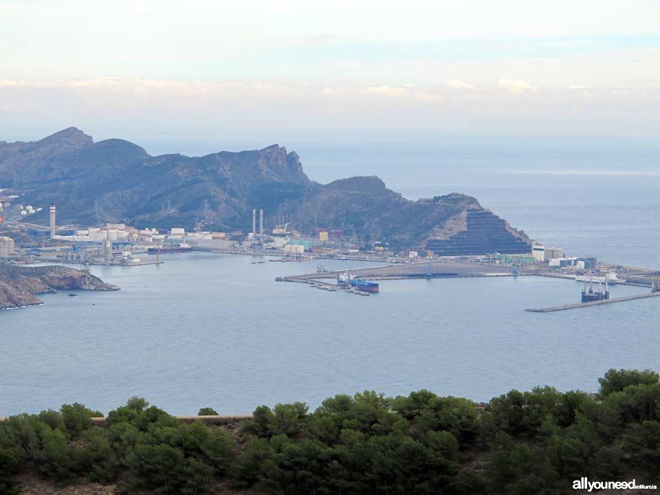 Panorámicas desde el Monte Roldánen Cartagena. Escombreras