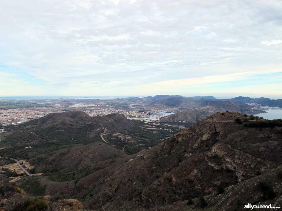 Panorámicas desde el Monte Roldán en Cartagena