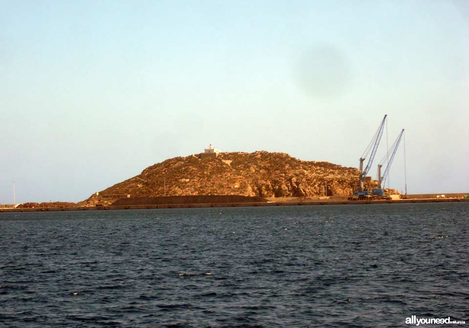Escombreras Island in Cartagena