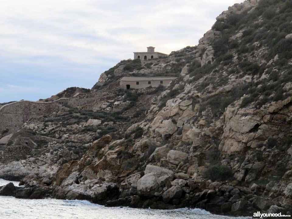 Faro de la Podadera en Cartagena. Murcia