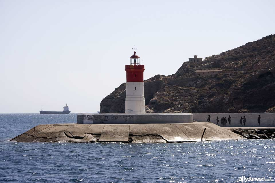 Lighthouse in Navidad Levee, Cartagena Murcia