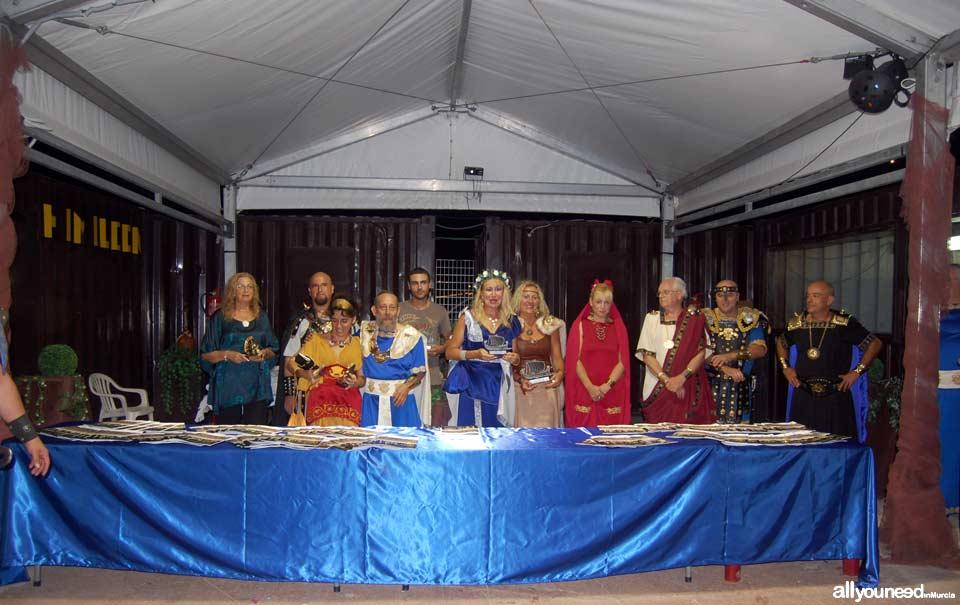 Carthagineses y Romanos en Cartagena. Entrega premios literarios tropa Himilcon