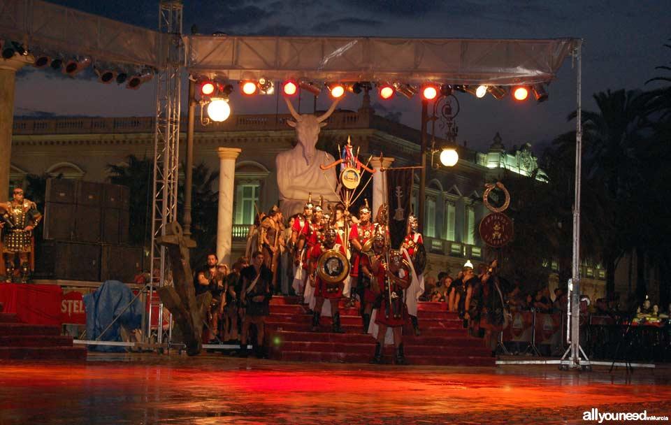 Carthagineses y Romanos en Cartagena. Acto de contratación de Mercenarios