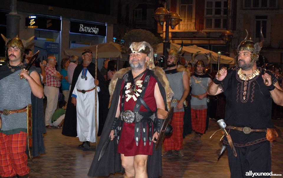 Carthagineses y Romanos en Cartagena. Desfile contratación de Mercenarios