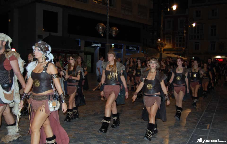 Carthagineses y Romanos en Cartagena. Desfile Honderos-Baleares