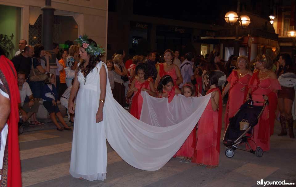 Carthagineses y Romanos en Cartagena. Desfile Tropa Romana