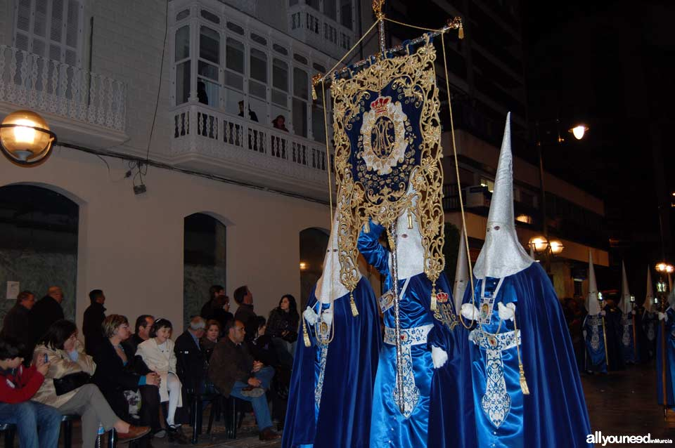 Emblem of Virgen del Primer Dolor. Holy Week in Cartagena