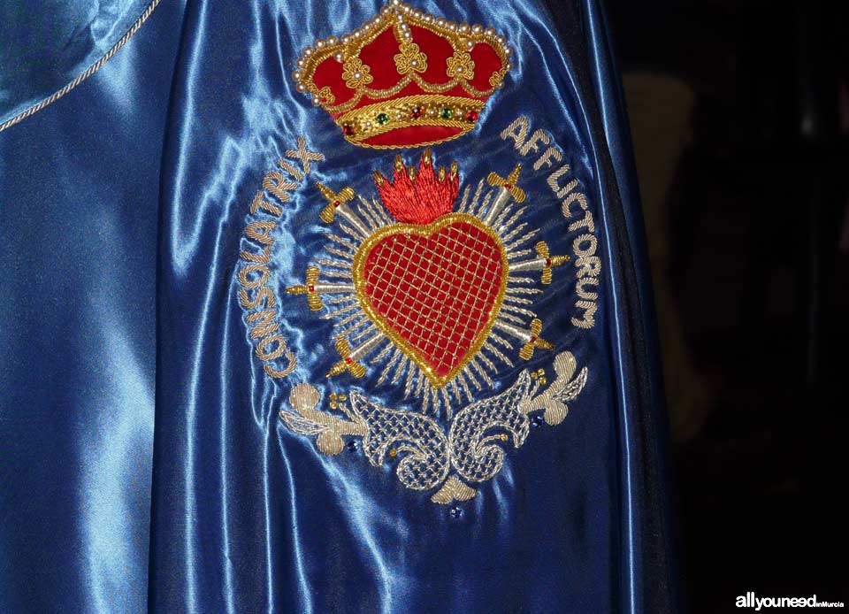 Embroidery of the Piedad fraternity. Holy Week in Cartagena