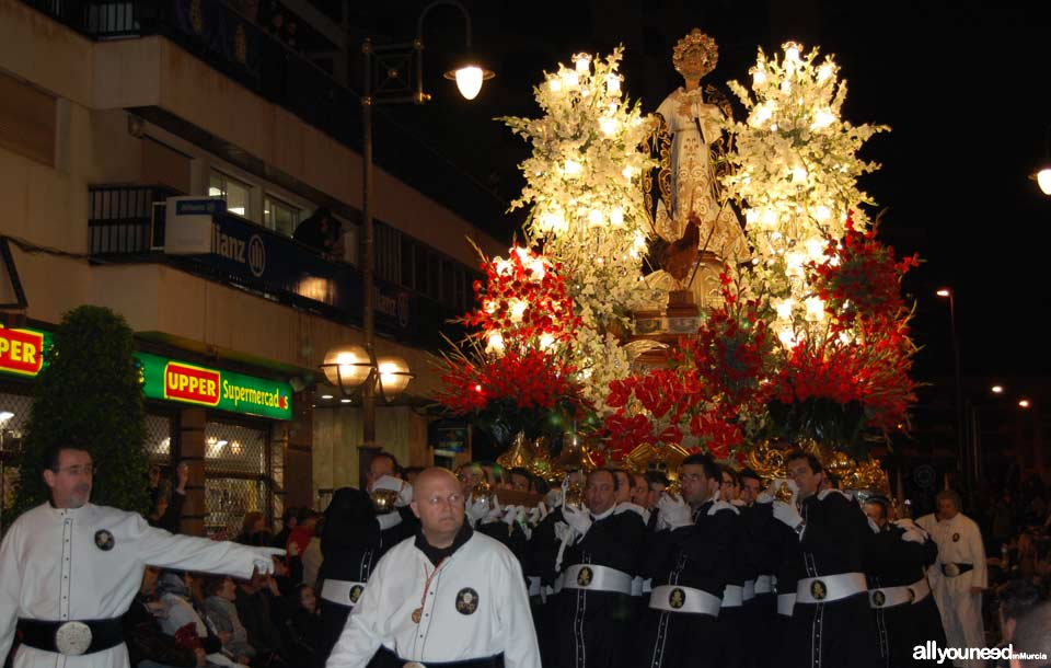 Float of San Pedro. Holy Week in Cartagena