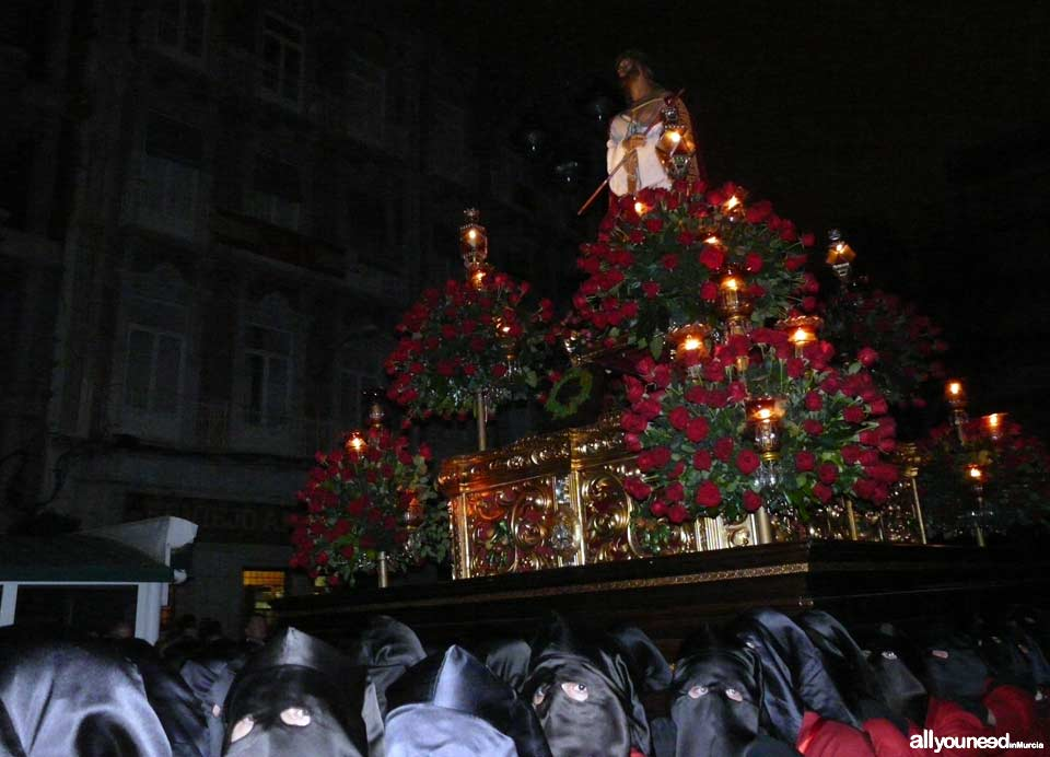 Float of Cristo de los Mineros. Holy Week in Cartagena