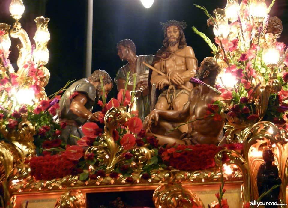 Float of Flagelación. Holy Week in Cartagena