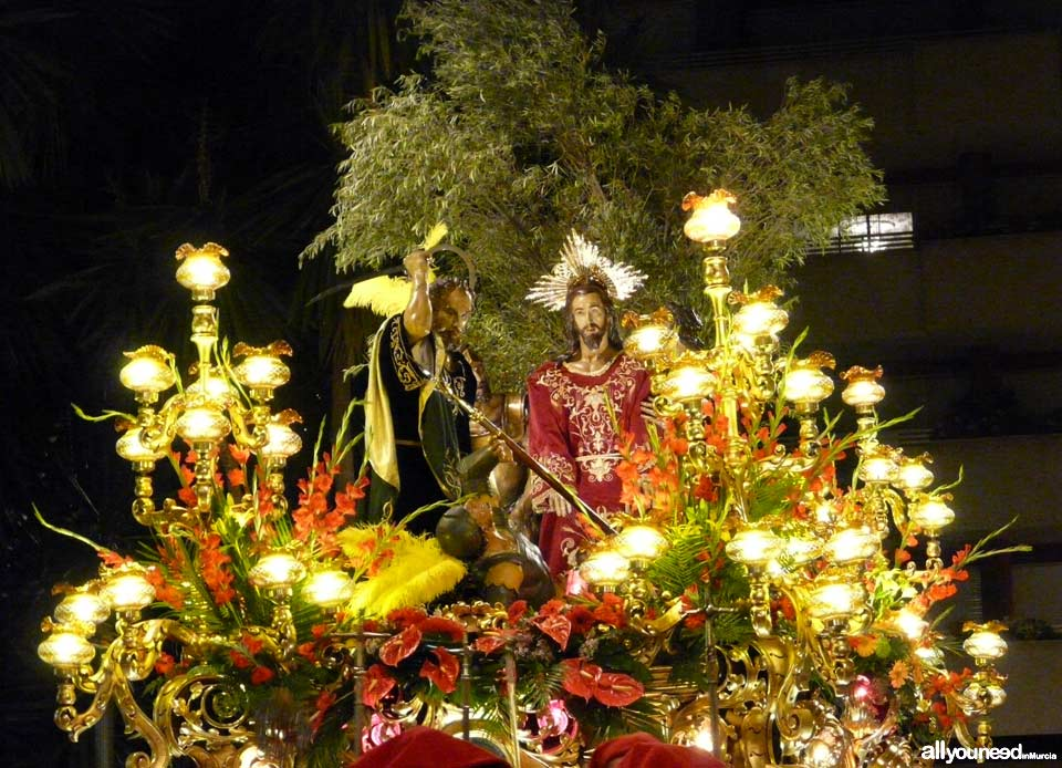 Float of Ósculo. Californios. Holy Week in Cartagena
