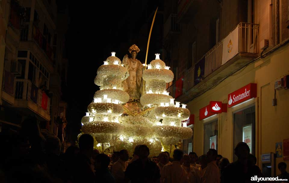 Float of San Juan Evangelista. Holy Week in Cartagena