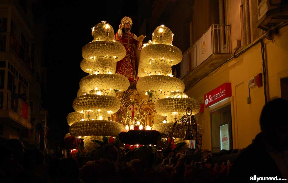 Float of Santiago Apóstol. Holy Week in Cartagena