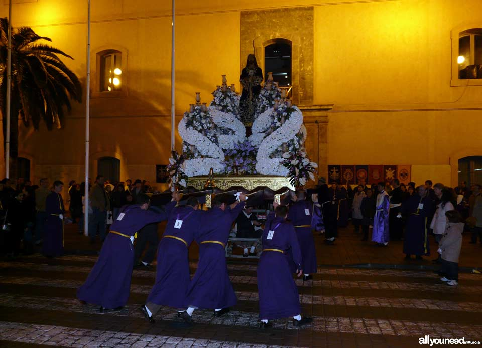 Float of Cristo de Medinaceli. Holy Week in Cartagena