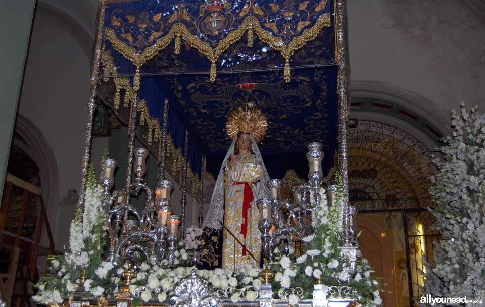 Our Lady of Beautiful Love. Holy Week in Cartagena