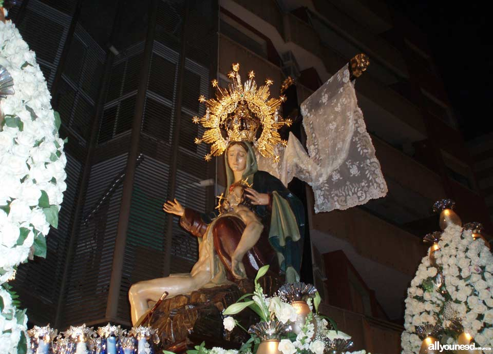 Our Lady of Mercy. Holy Week in Cartagena