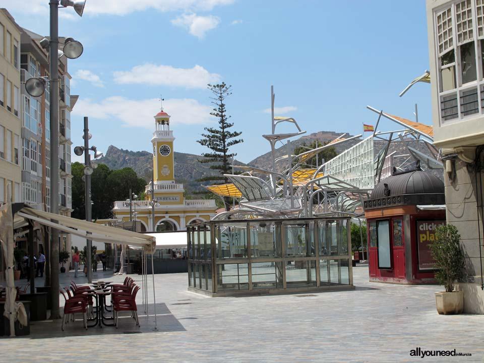 Calles de Cartagena. PLaza del Rey