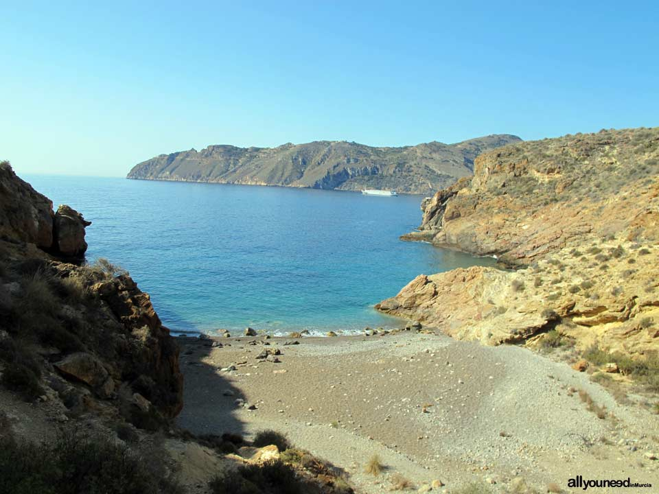 Bolete Cove in Cabo Tiñoso -Cartagena- Spain