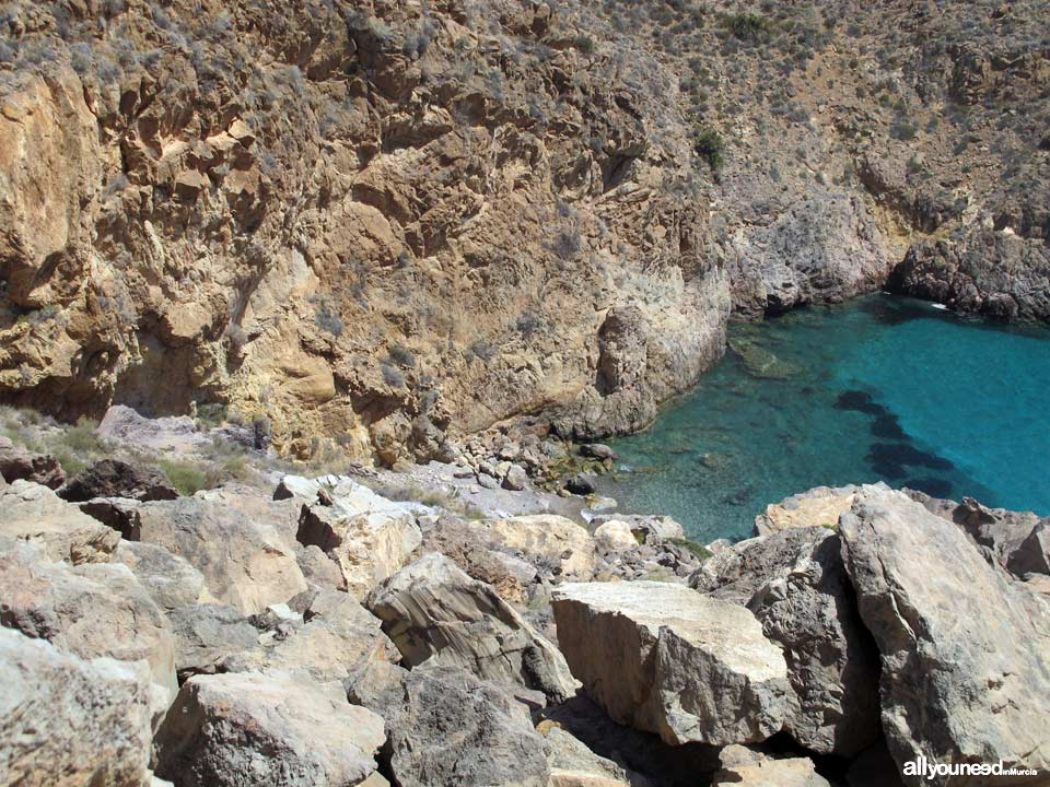 Cove located between Pozo Avispa and  Bolete Grande in Cabo Tiñoso