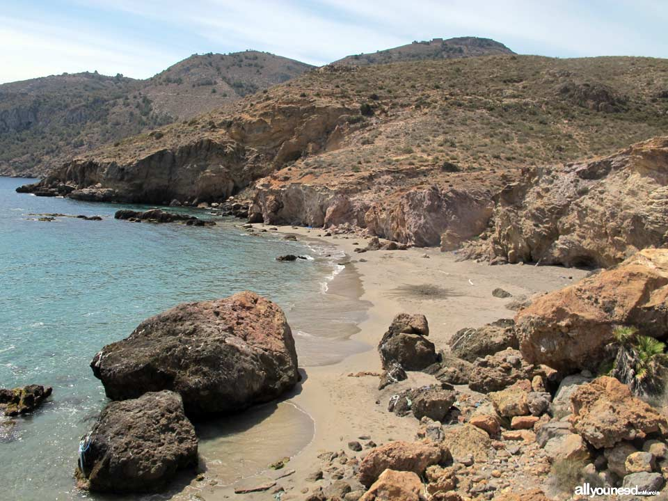 Cove located beetwen Salitrona and Pozo de la Avispa coves