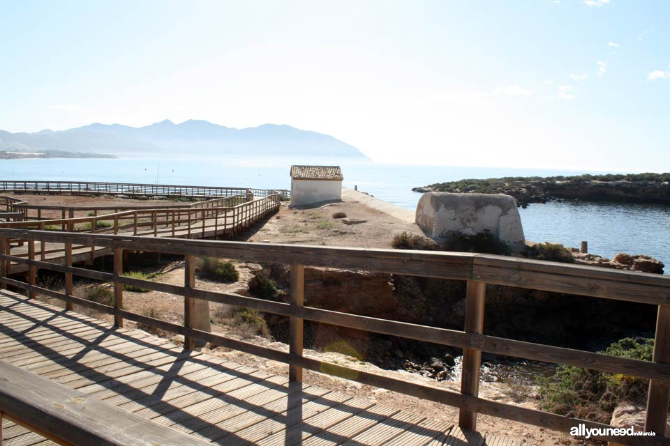 Marrana Baths, Isla Plana. What to see in Murcia