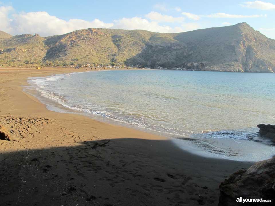 Playa del El Gorguel entre Portmán y La Unión