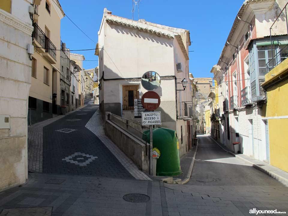 Calle Mayor de Abajo y Cuesta Moreno de Cehegín