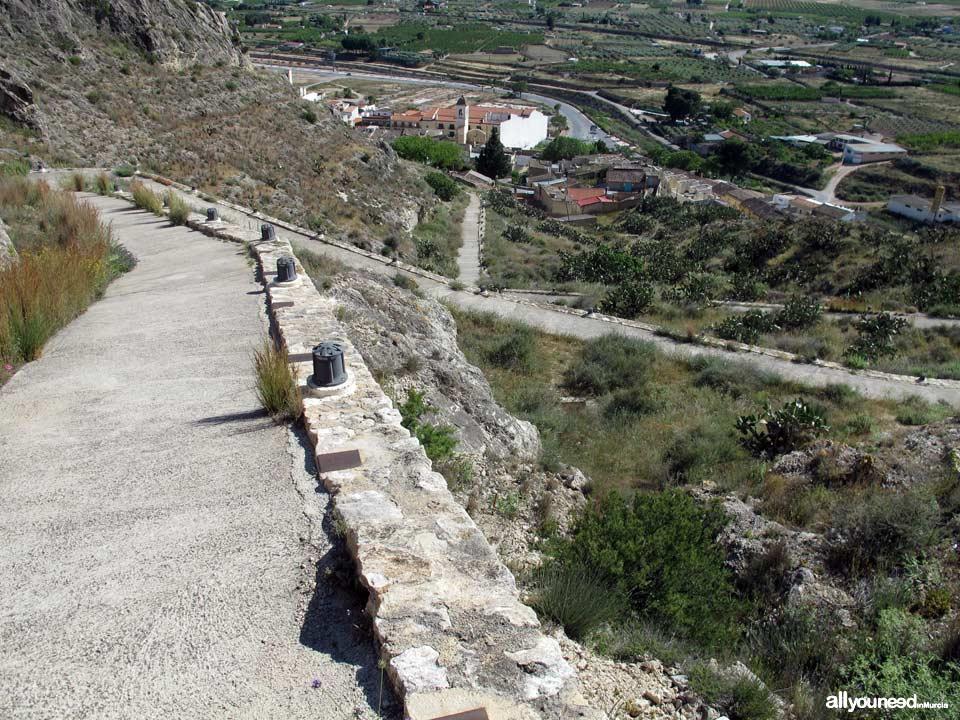 Jumilla Castle. Subida al Castillo