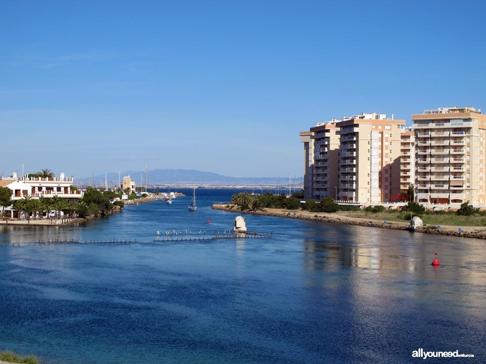 Canal entre Mar Menor y Mar Mediterráneo