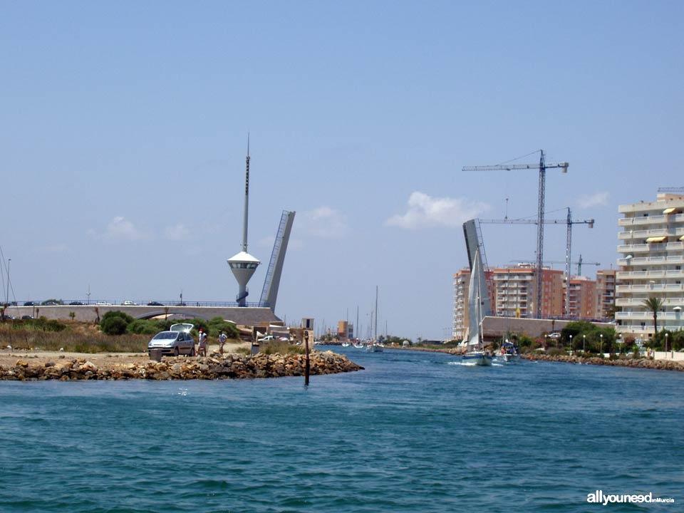 Gola, Canal y Puente del Estacio en la Manga del Mar Menor