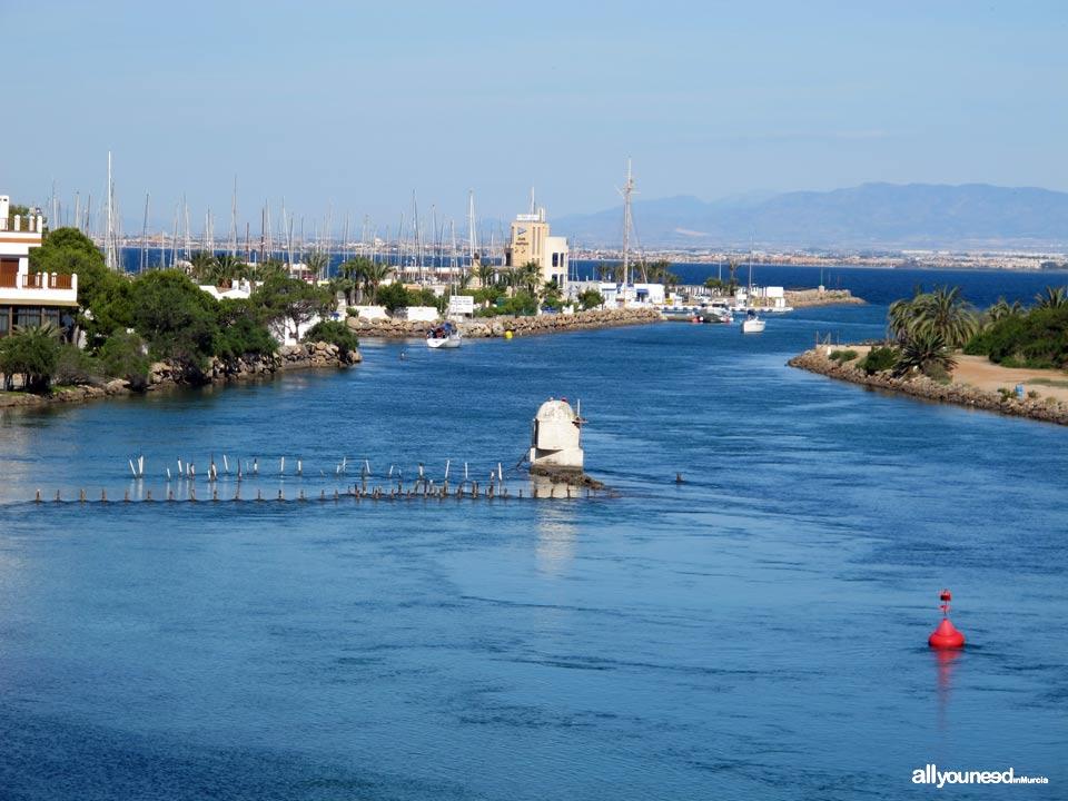 Gola, Canal del Estacio en la Manga del Mar Menor