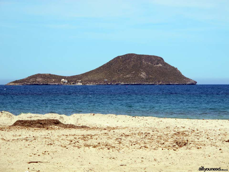 Grosa Island in La Manga del Mar Menor