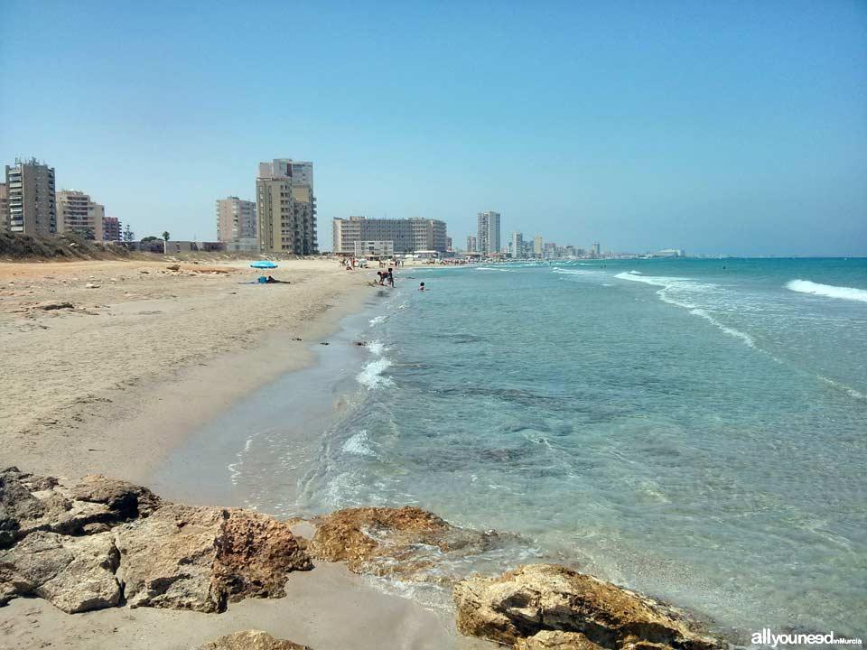 Playa de las Amoladeras. La Manga del Mar Menor