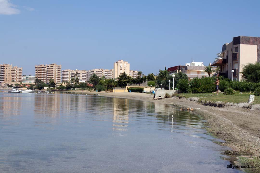 Playa de la Isla. La Manga / Playa Optimis