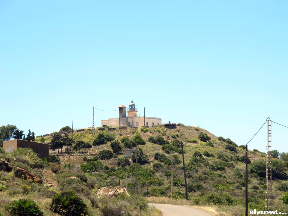 Portman Lighthouse in La Unión. Murcia