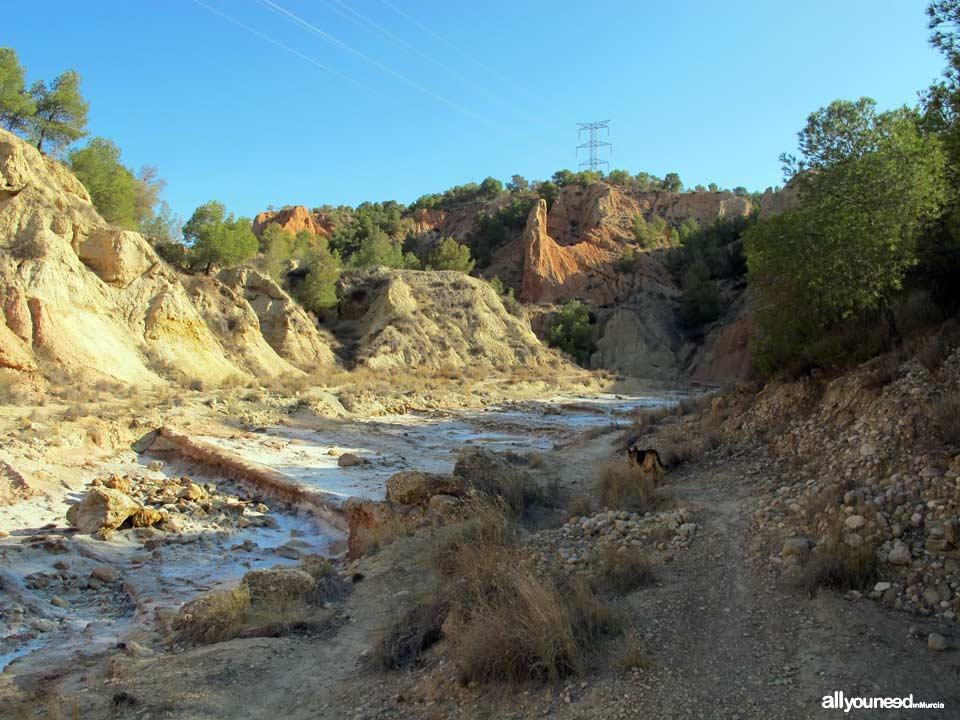 Ruta Barranco del Infierno. Senderismo en Librilla.
