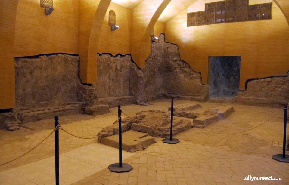 Restos Sinagoga. Castillo de Lorca. La Fortaleza del Sol. Castillos de España.