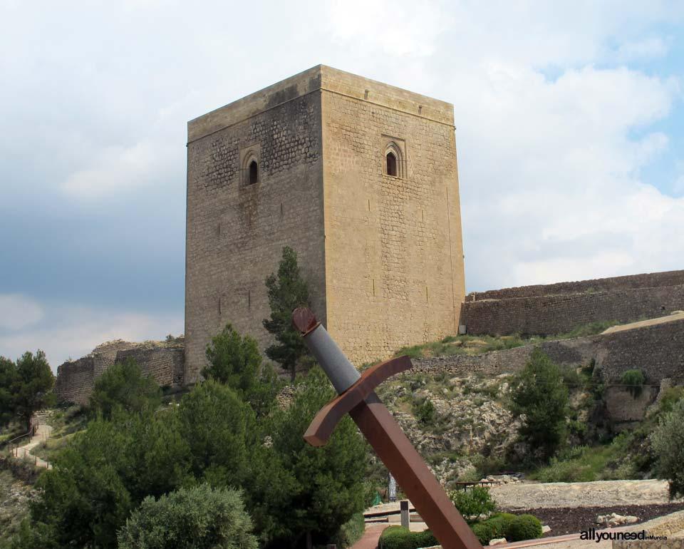 Torre Alfonsina. Castillo de Lorca. Fortificación del Sol. Castillos de España.