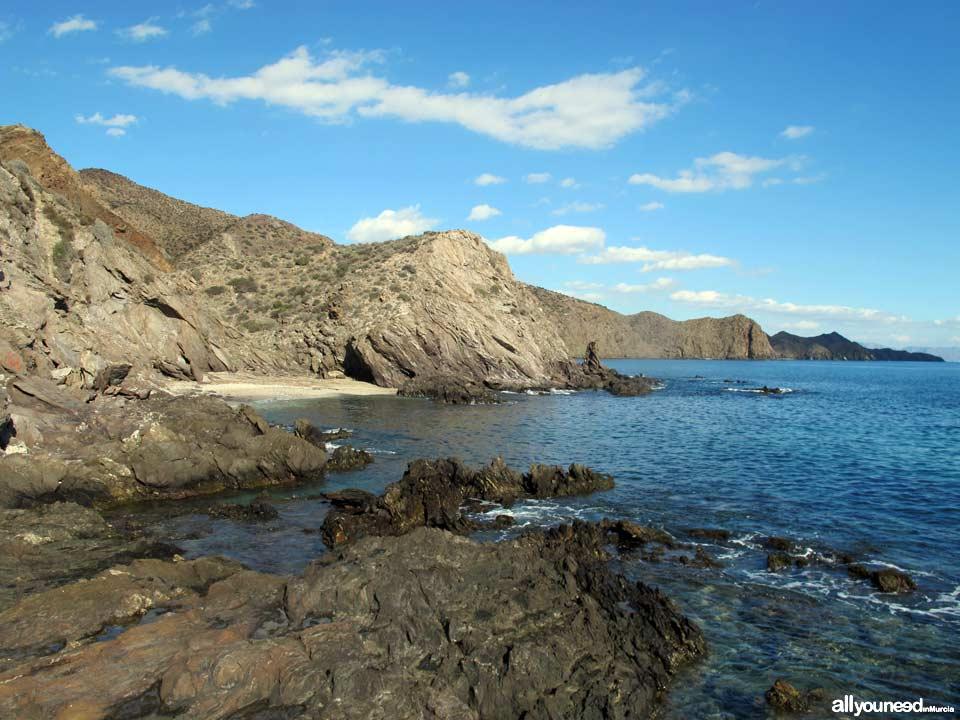 Playa Cuartel del Ciscar - Playa del Pelo. Playas de Lorca