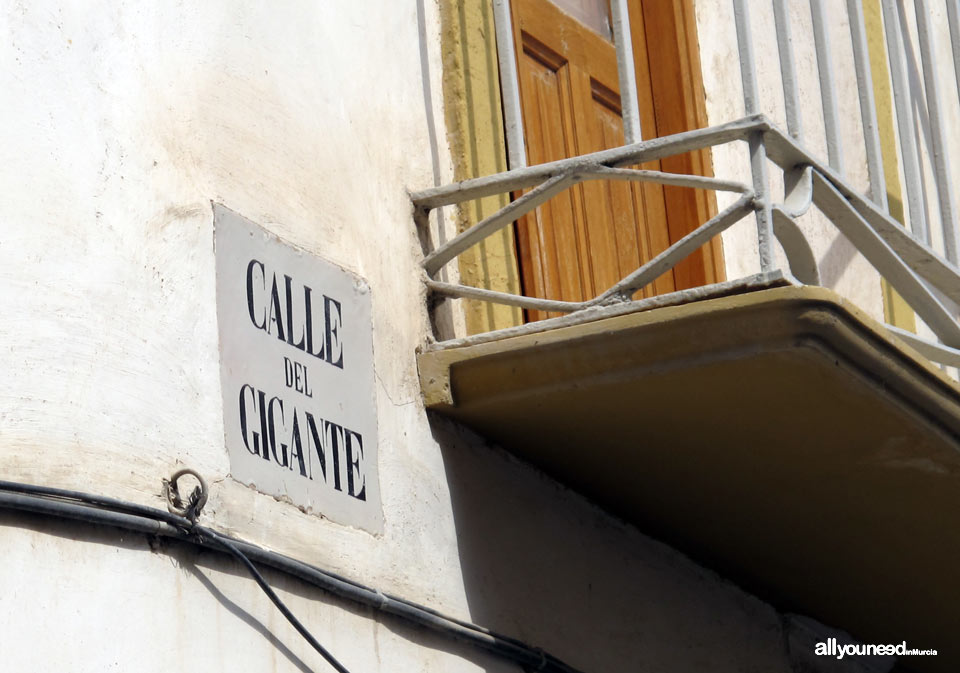 Calles de Lorca. Calle del Gigante